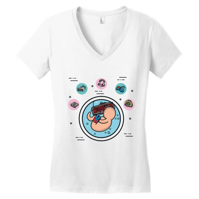 20d51d74f575 Custom Fetus Women's V-neck T-shirt By Wizarts - Artistshot