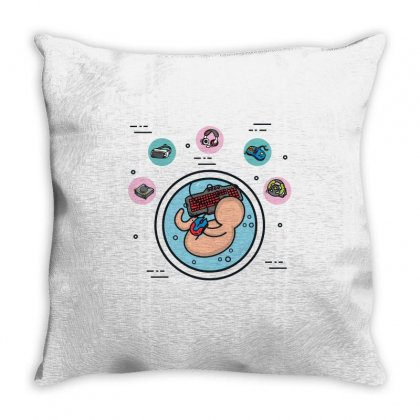 Fetus Throw Pillow Designed By Wizarts