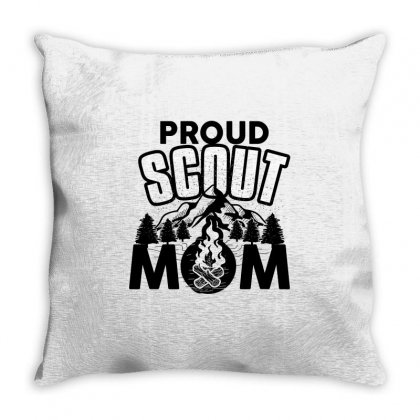 Proud Scout Mom Throw Pillow Designed By Wizarts
