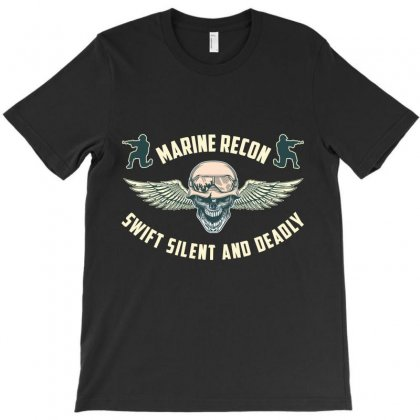 Marine Recon Swift Silent And Deadly T-shirt Designed By Wizarts