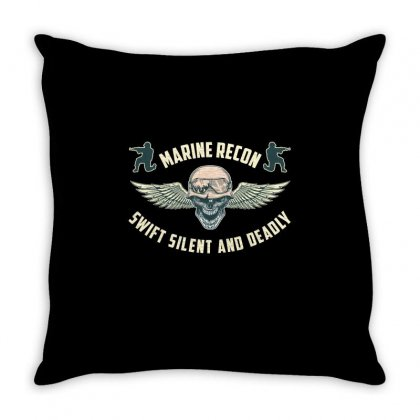 Marine Recon Swift Silent And Deadly Throw Pillow Designed By Wizarts