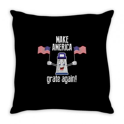 Make America Grate Again Throw Pillow Designed By Wizarts