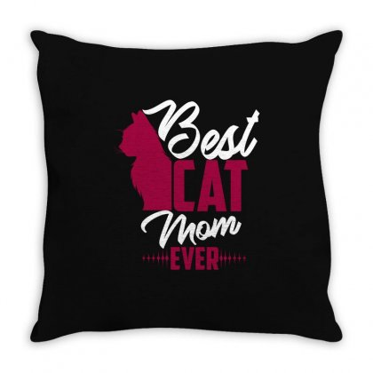 Best Cat Mom Ever Throw Pillow Designed By Wizarts