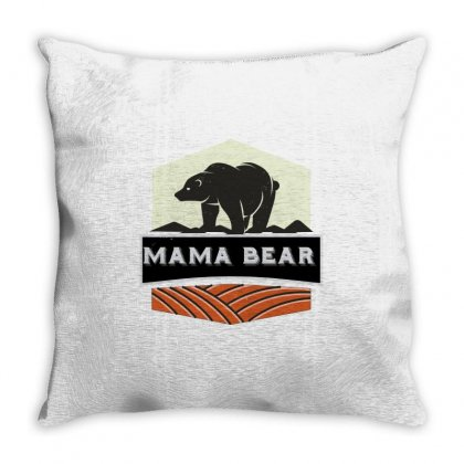 Mama Bear Cool Throw Pillow Designed By Wizarts
