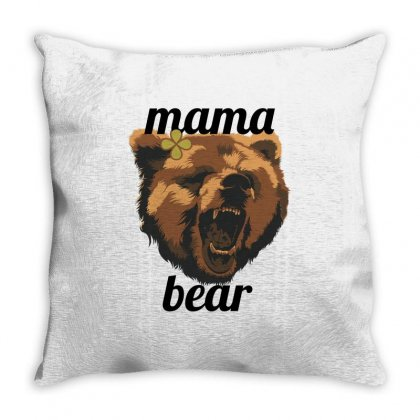 Mama Bear Throw Pillow Designed By Wizarts
