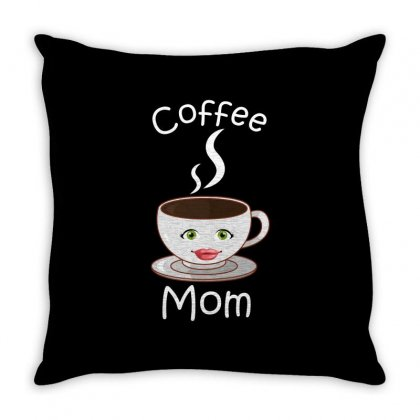 Coffee Mom Throw Pillow Designed By Wizarts