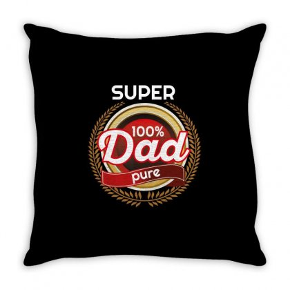Super 100% Dad Pure Throw Pillow Designed By Wizarts