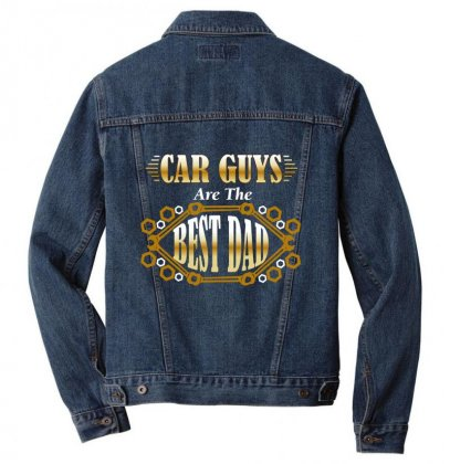 Car Guys Are The Best Dad Men Denim Jacket Designed By Wizarts