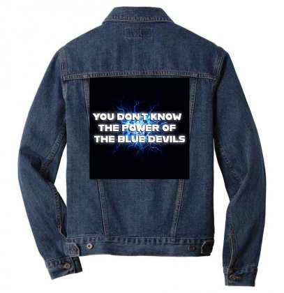 You Dont Know The Power Of The Blue Devils Men Denim Jacket Designed By Seniha