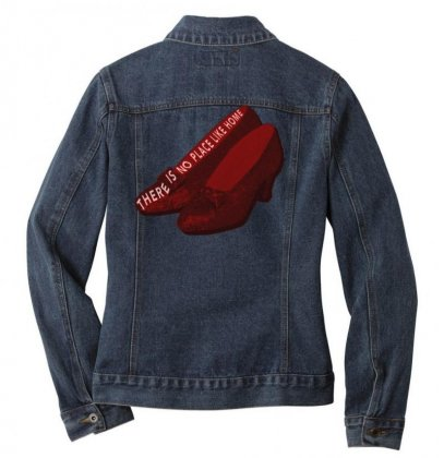 There Is No Place Like Home Ladies Denim Jacket Designed By Seniha