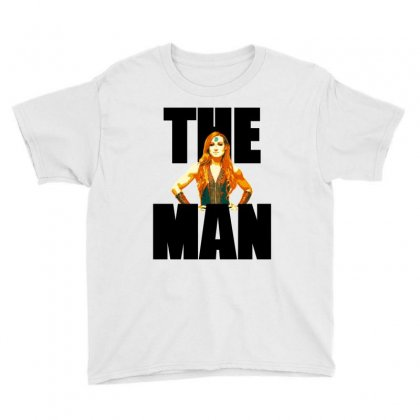 Becky Lynch The Man For Light Youth Tee Designed By Sengul