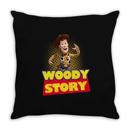 Woody Story Throw Pillow Designed By Sengul