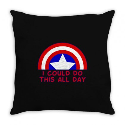 I Could Do This All Day Throw Pillow Designed By Sengul