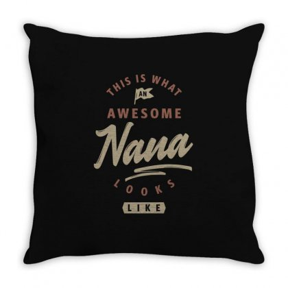 Awesome Nana Looks Like Throw Pillow Designed By Cidolopez