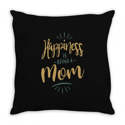 Happiness Is Being A Mom Throw Pillow Designed By Cidolopez