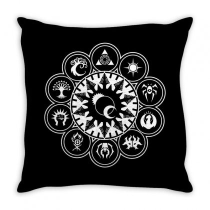 Magic Gathering Guild Throw Pillow Designed By Luisother