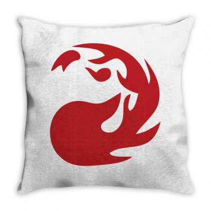 Magic Gathering Red Throw Pillow Designed By Luisother