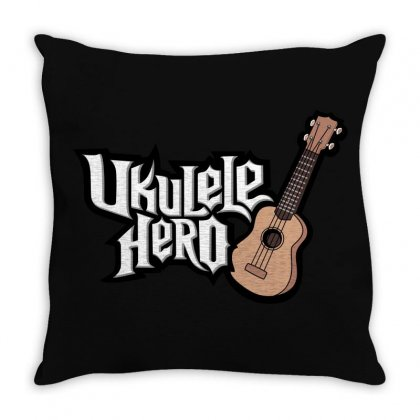 Ukulele Hero Throw Pillow Designed By Shoptee