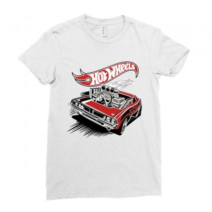 Hot Wheels Ladies Fitted T-shirt Designed By Flupluto