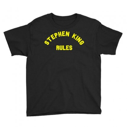 Stephen King Rules Youth Tee Designed By Flupluto