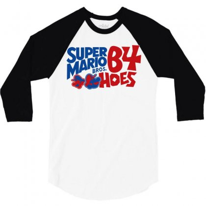 Super Mario Bros Before Hoes 3/4 Sleeve Shirt Designed By Flupluto