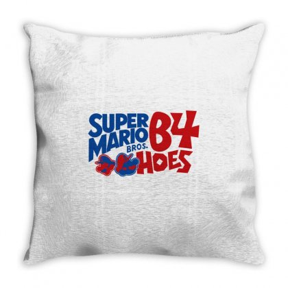 Super Mario Bros Before Hoes Throw Pillow Designed By Flupluto