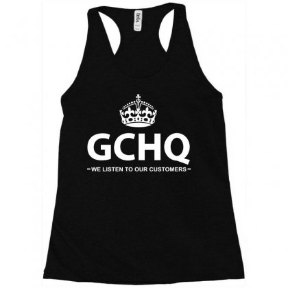 Government Communications Head Quarters Racerback Tank Designed By Flupluto