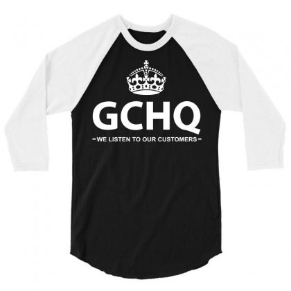 Government Communications Head Quarters 3/4 Sleeve Shirt Designed By Flupluto