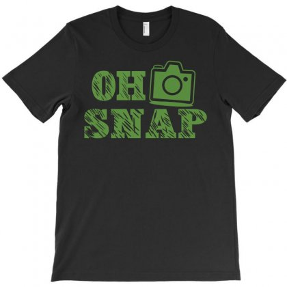 Oh Snap Photography T-shirt Designed By Flupluto
