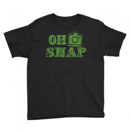 Oh Snap Photography Youth Tee Designed By Flupluto