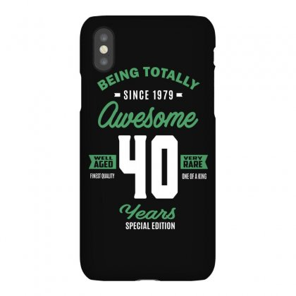 Awesome 40 Years Iphonex Case Designed By Cidolopez