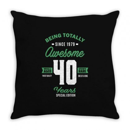 Awesome 40 Years Throw Pillow Designed By Cidolopez