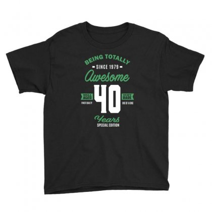 Awesome 40 Years Youth Tee Designed By Cidolopez
