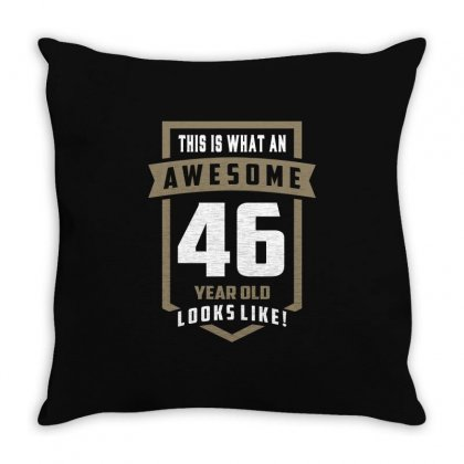 Awesome 46 Year Old Throw Pillow Designed By Cidolopez