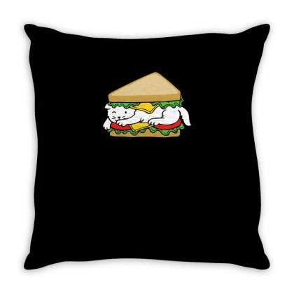 Catwich Funny Tshirt Throw Pillow Designed By Alex