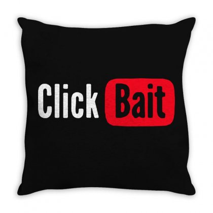 Click Bait Throw Pillow Designed By Frizidan