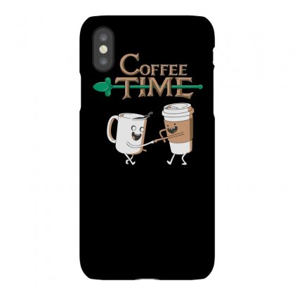 Coffee Time Funny Tshirt Iphonex Case Designed By Alex