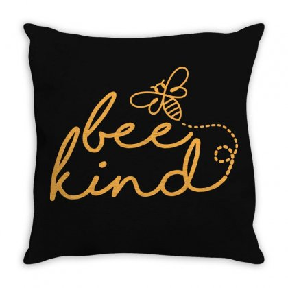 Bee Kind Throw Pillow Designed By Frizidan