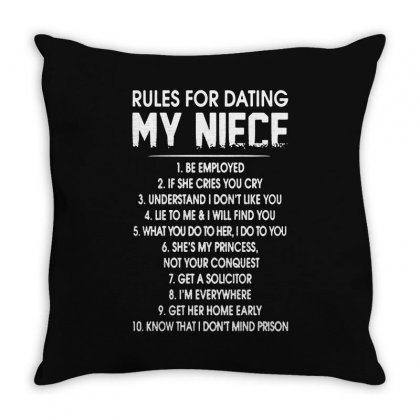 Dating My Niece Throw Pillow Designed By Frizidan