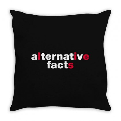 Alternative Facts Throw Pillow Designed By Fejena