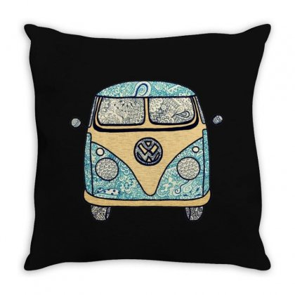 Awesone Van Throw Pillow Designed By Fejena