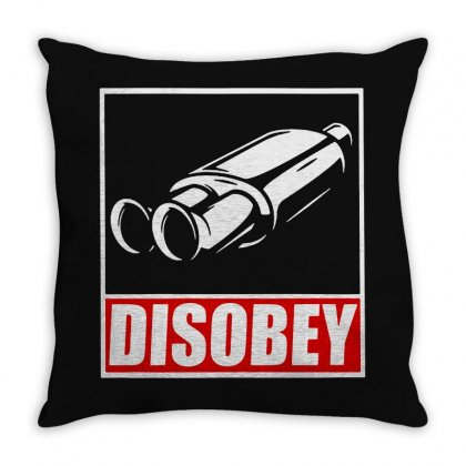 Disobey Throw Pillow Designed By Frizidan