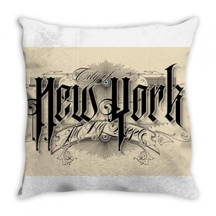 New York Vintage Throw Pillow Designed By Tiococacola