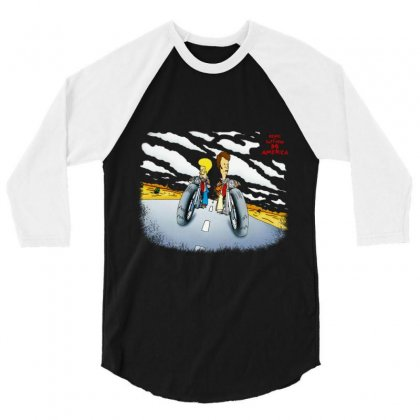 Beavis And Butthead Do America 3/4 Sleeve Shirt Designed By Fejena