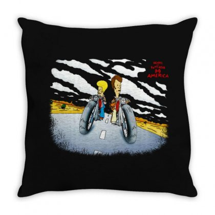 Beavis And Butthead Do America Throw Pillow Designed By Fejena