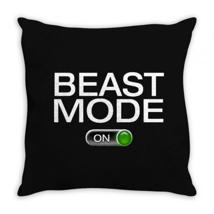 Beast Mode Throw Pillow Designed By Fejena