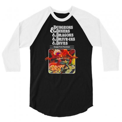 Dungeons &  Dragons Escape From Flavortown 3/4 Sleeve Shirt Designed By Frizidan