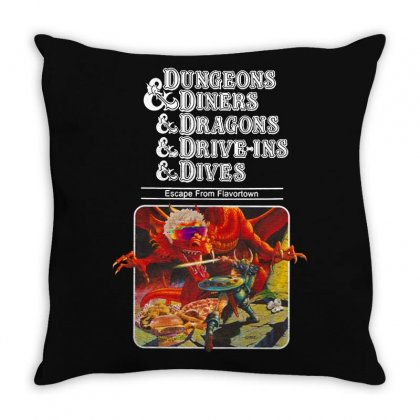 Dungeons &  Dragons Escape From Flavortown Throw Pillow Designed By Frizidan