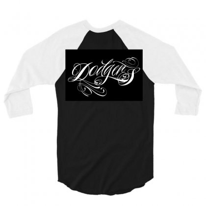 Dodgers 3/4 Sleeve Shirt Designed By Tiococacola