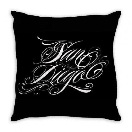 San Diego Throw Pillow Designed By Tiococacola
